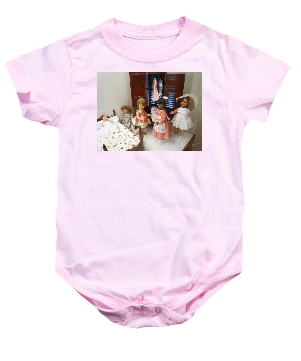 Doll Baby Onesie featuring the photograph Valley Of The Dolls by Charles Stuart