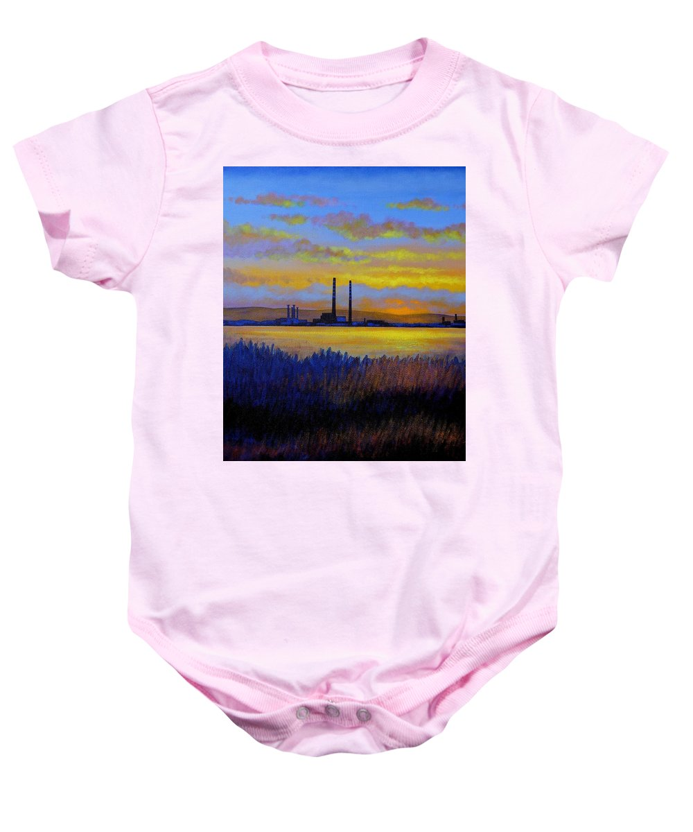 Seascape Baby Onesie featuring the painting View From Clontarf - Dublin by John Nolan