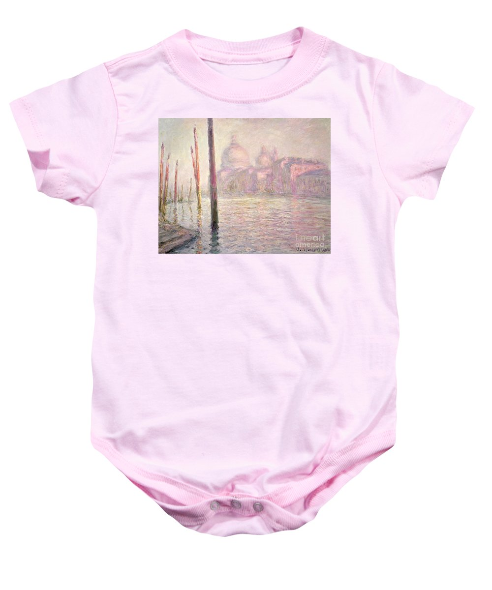 French Baby Onesie featuring the painting View Of Venice by Claude Monet