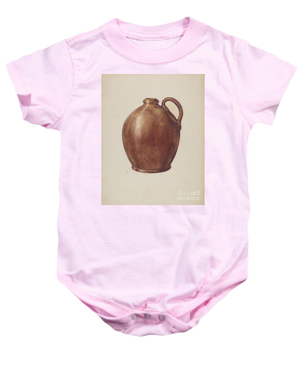 Baby Onesie featuring the drawing Vinegar Jug by Francis Law Durand