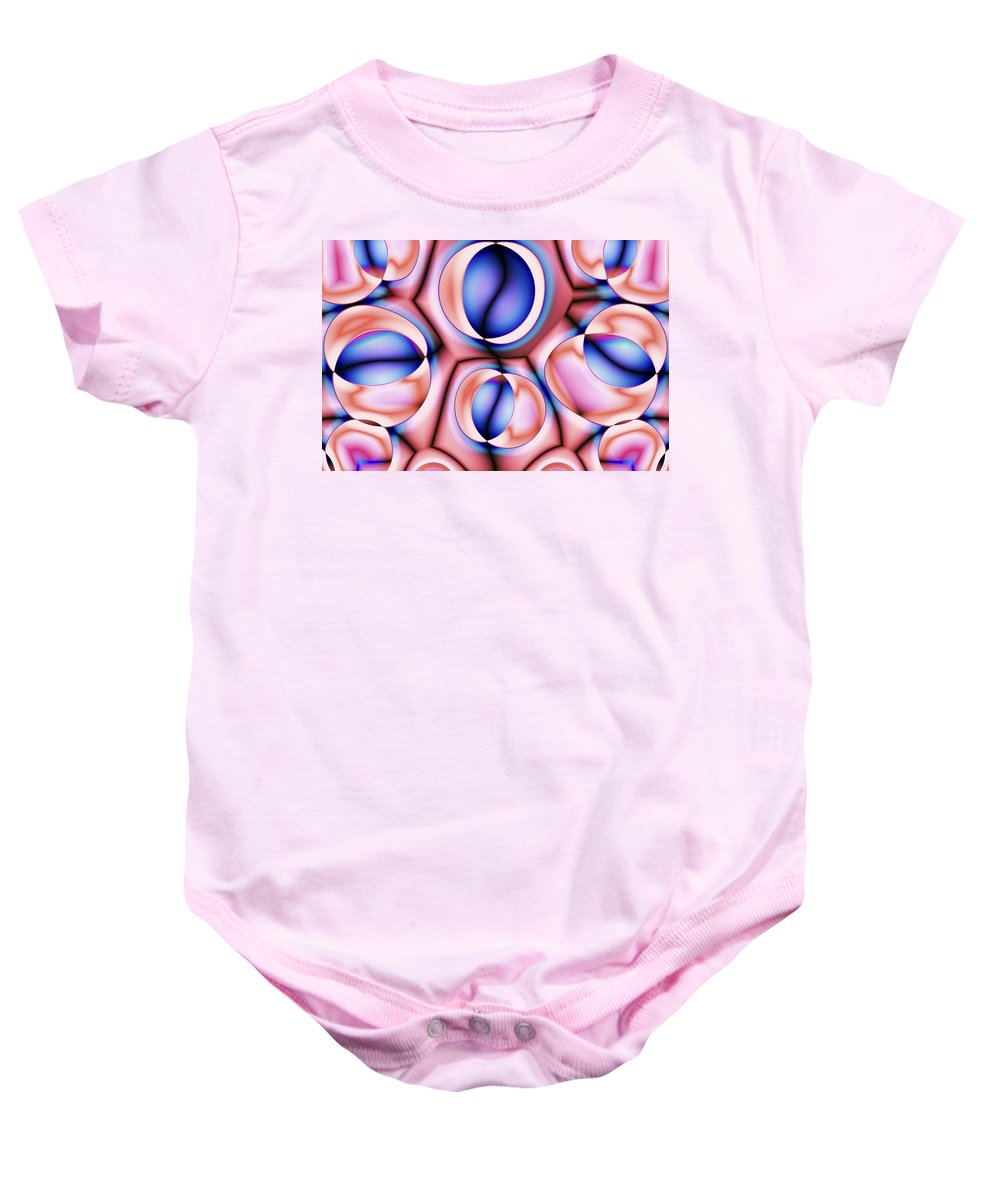 Colors Baby Onesie featuring the digital art Vision 38 by Jacques Raffin