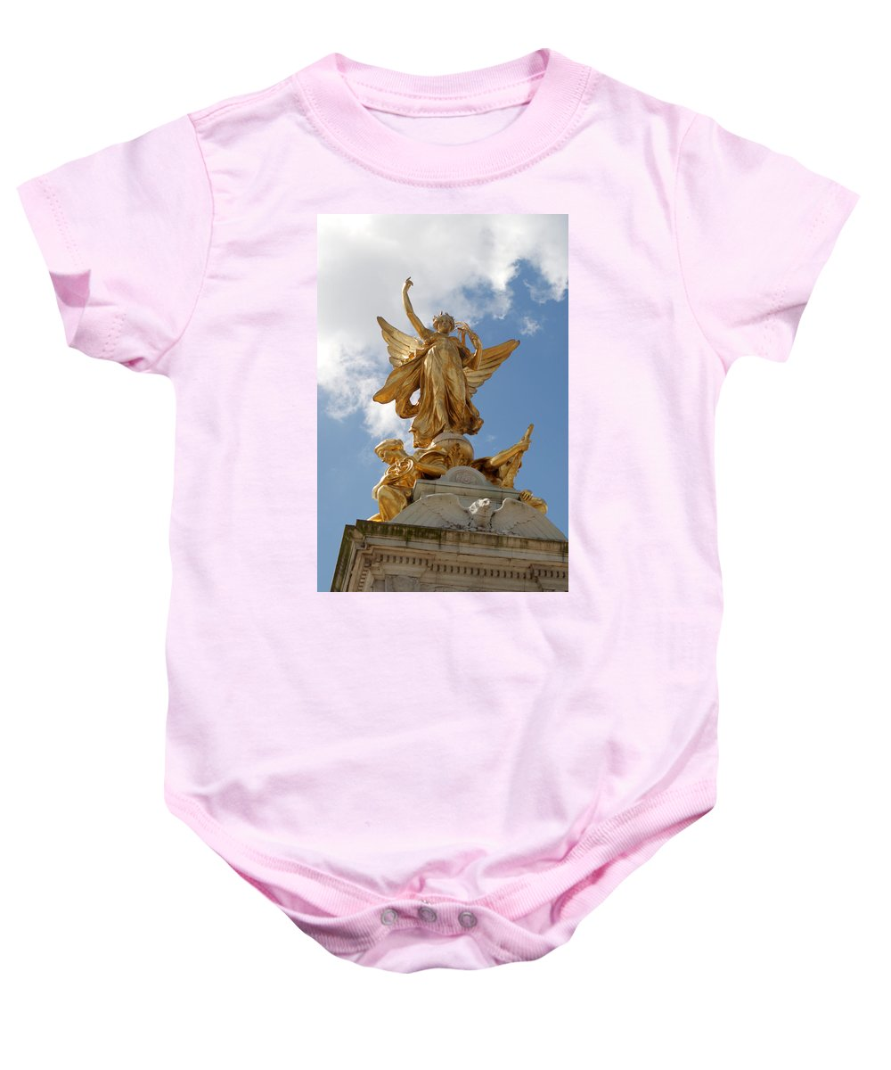 Victoria Baby Onesie featuring the photograph Vivtoria Memorial by Chris Day