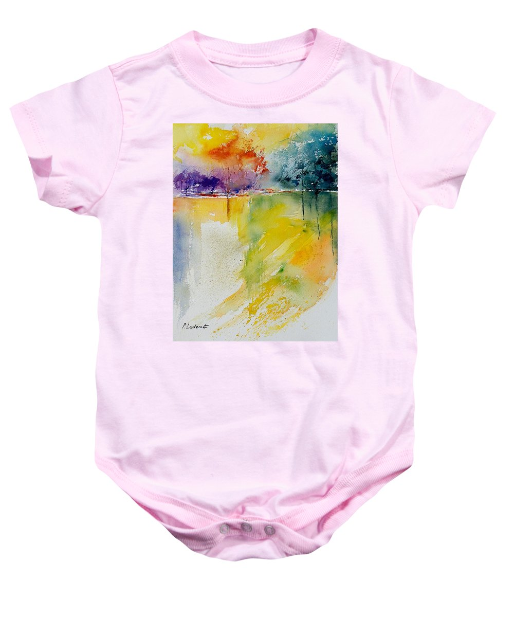 Pond Baby Onesie featuring the painting Watercolor 800142 by Pol Ledent