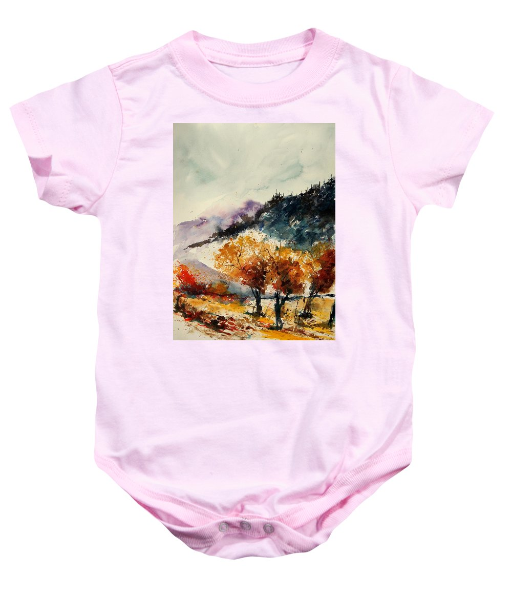 Tree Baby Onesie featuring the painting Watercolor 908041 by Pol Ledent
