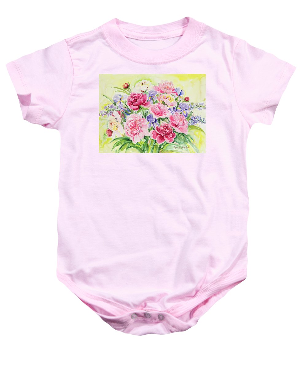 Flowers Baby Onesie featuring the painting Watercolor Series 153 by Ingrid Dohm