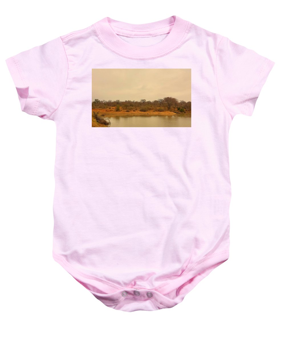 Water Baby Onesie featuring the photograph Watering Hole by Lisa Byrne