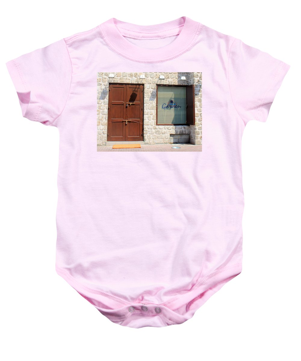 Door Baby Onesie featuring the photograph Way Out by Munir Alawi
