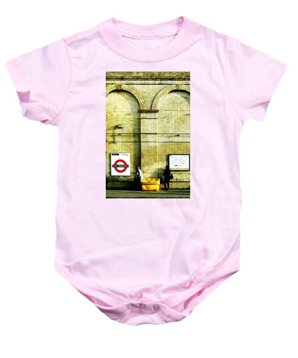 London Baby Onesie featuring the photograph West Brompton by Osvaldo Hamer