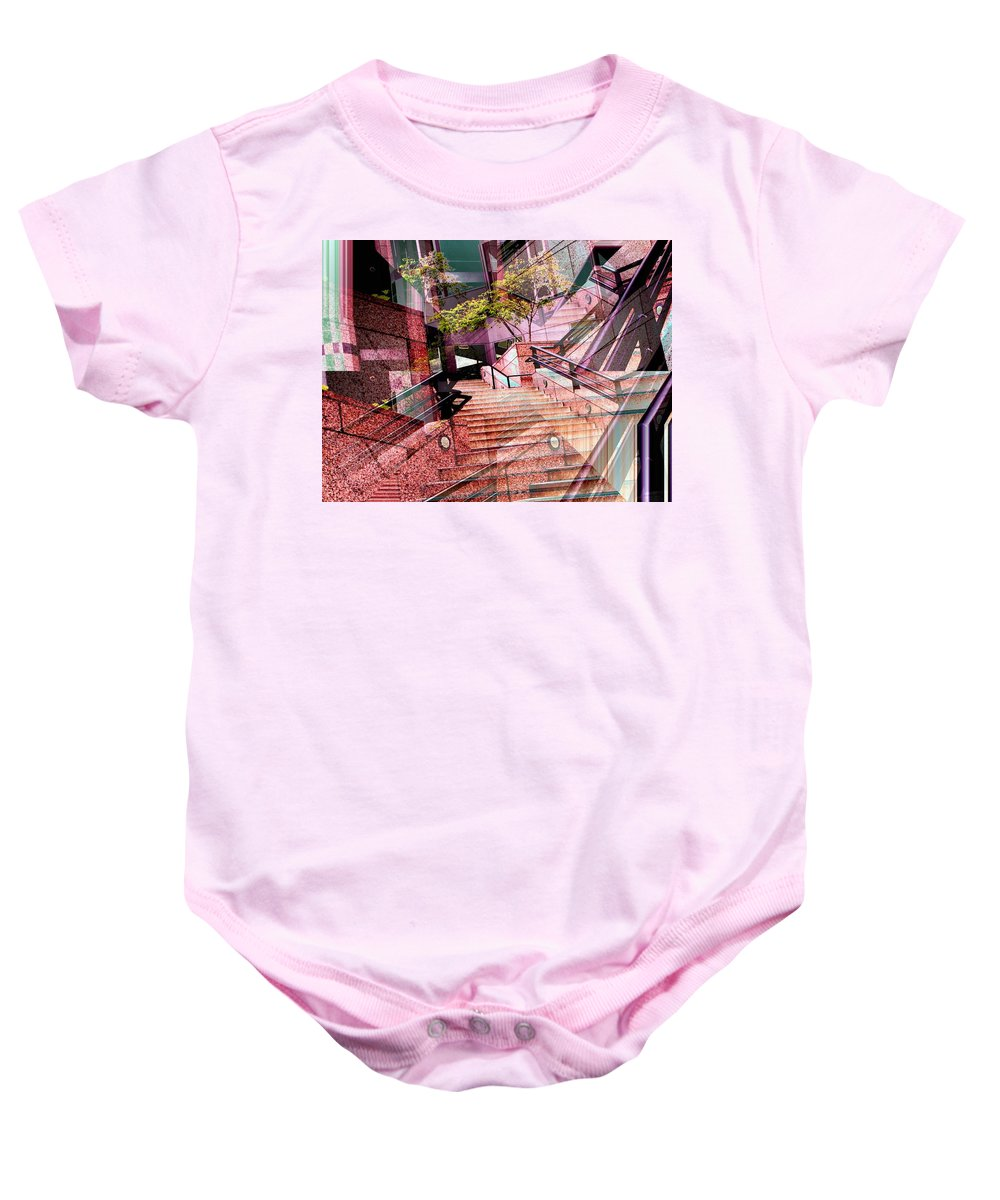 Stairs Baby Onesie featuring the photograph Which Way Up by Tim Allen