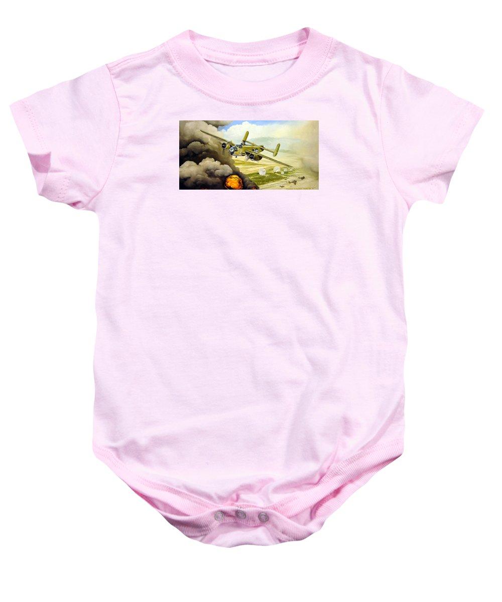 Aviation Baby Onesie featuring the painting Wild Cargo by Marc Stewart
