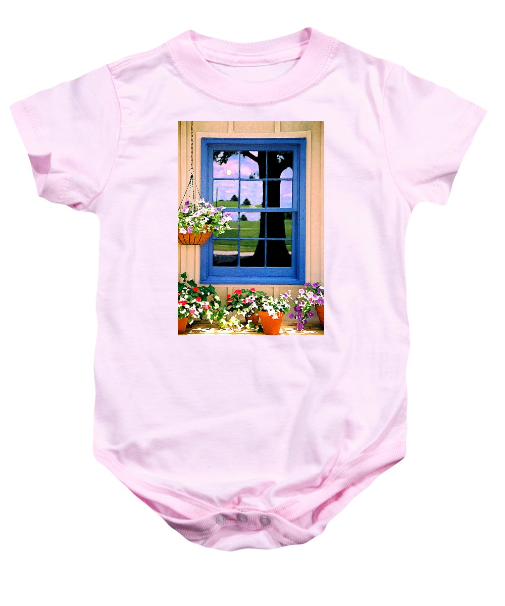 Still Life Baby Onesie featuring the photograph Window by Steve Karol
