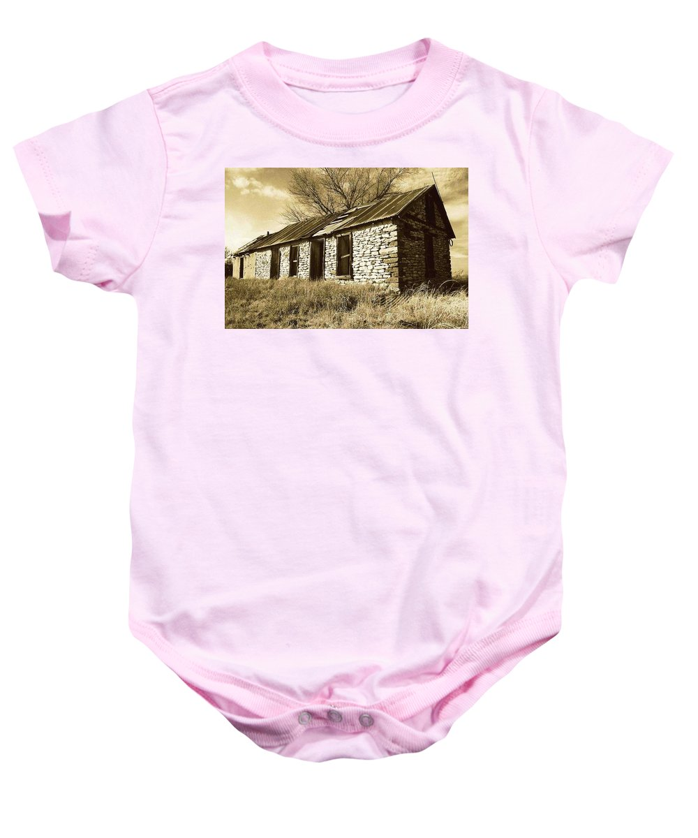 New Mexico Baby Onesie featuring the photograph Yeso New Mexico 1 by Nelson Strong