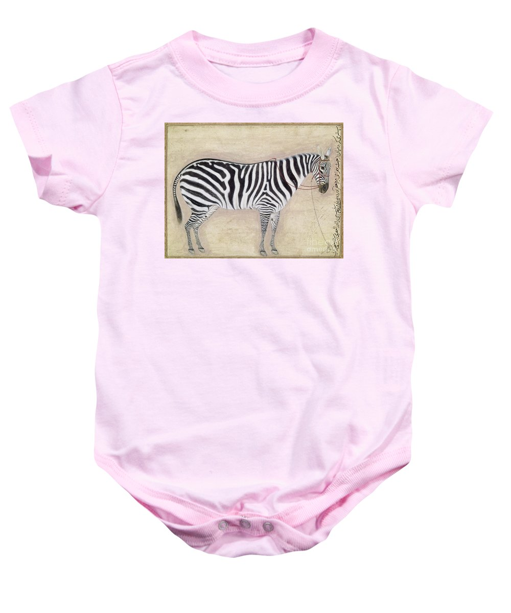 1620 Baby Onesie featuring the photograph Zebra, C1620 by Granger