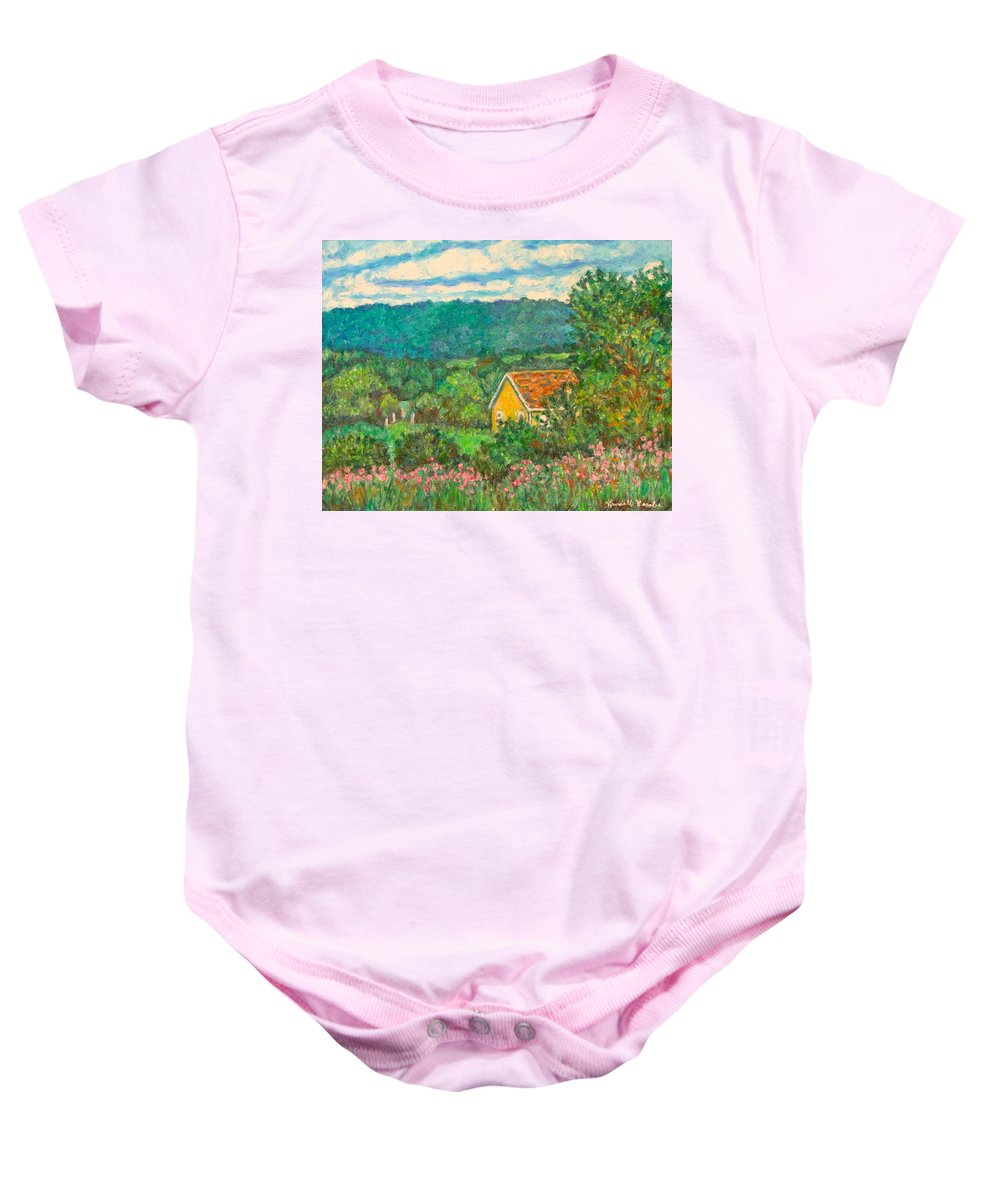 Landscape Baby Onesie featuring the painting 460 by Kendall Kessler