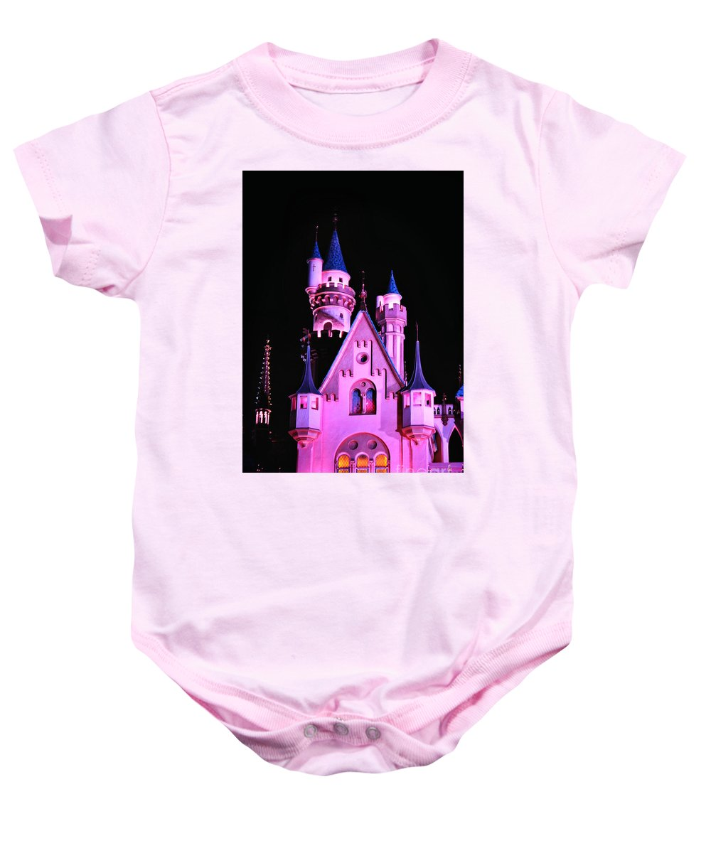 Disney Baby Onesie featuring the photograph Aurora's Castle by Michelle Williamson