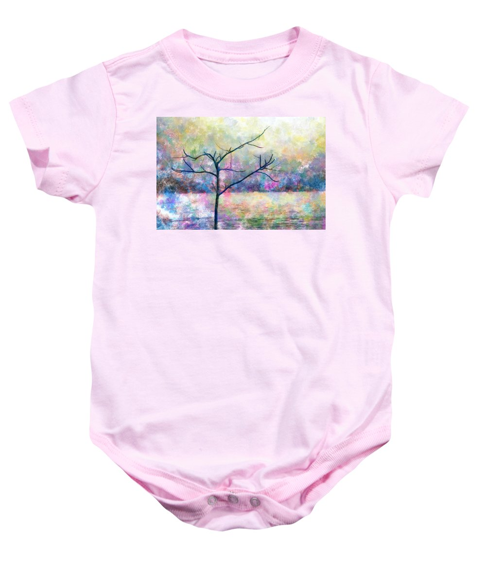Cold Baby Onesie featuring the photograph Cold Tree by Munir Alawi