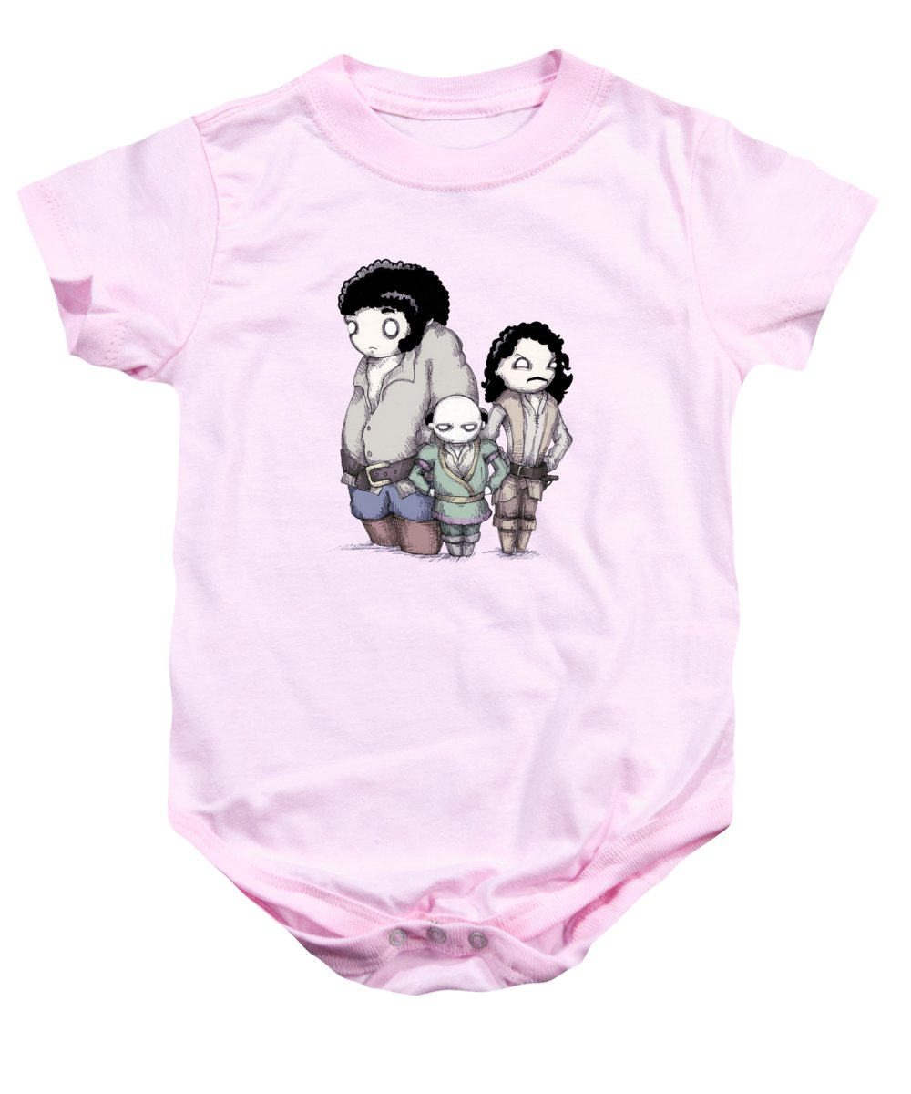 Princess Baby Onesie featuring the drawing Inconceivable by Ludwig Van Bacon