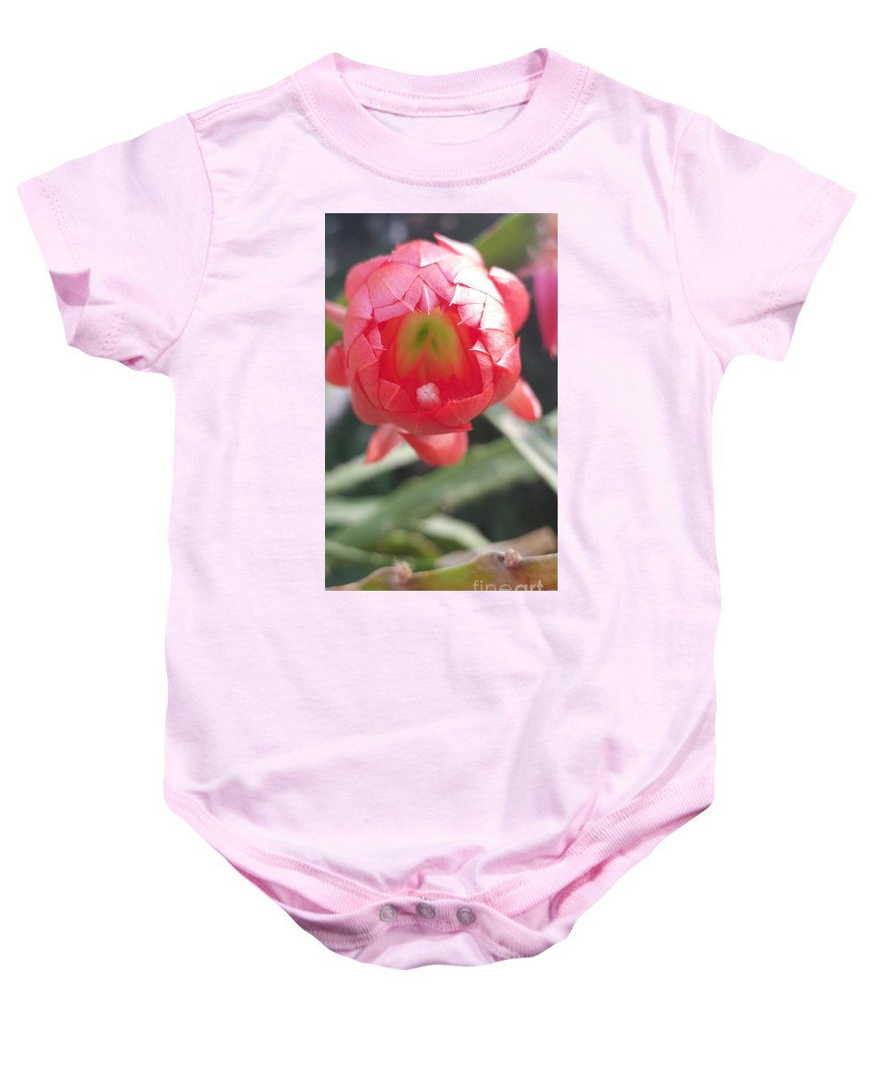 Baby Onesie featuring the photograph Red Flower by Paola Baroni