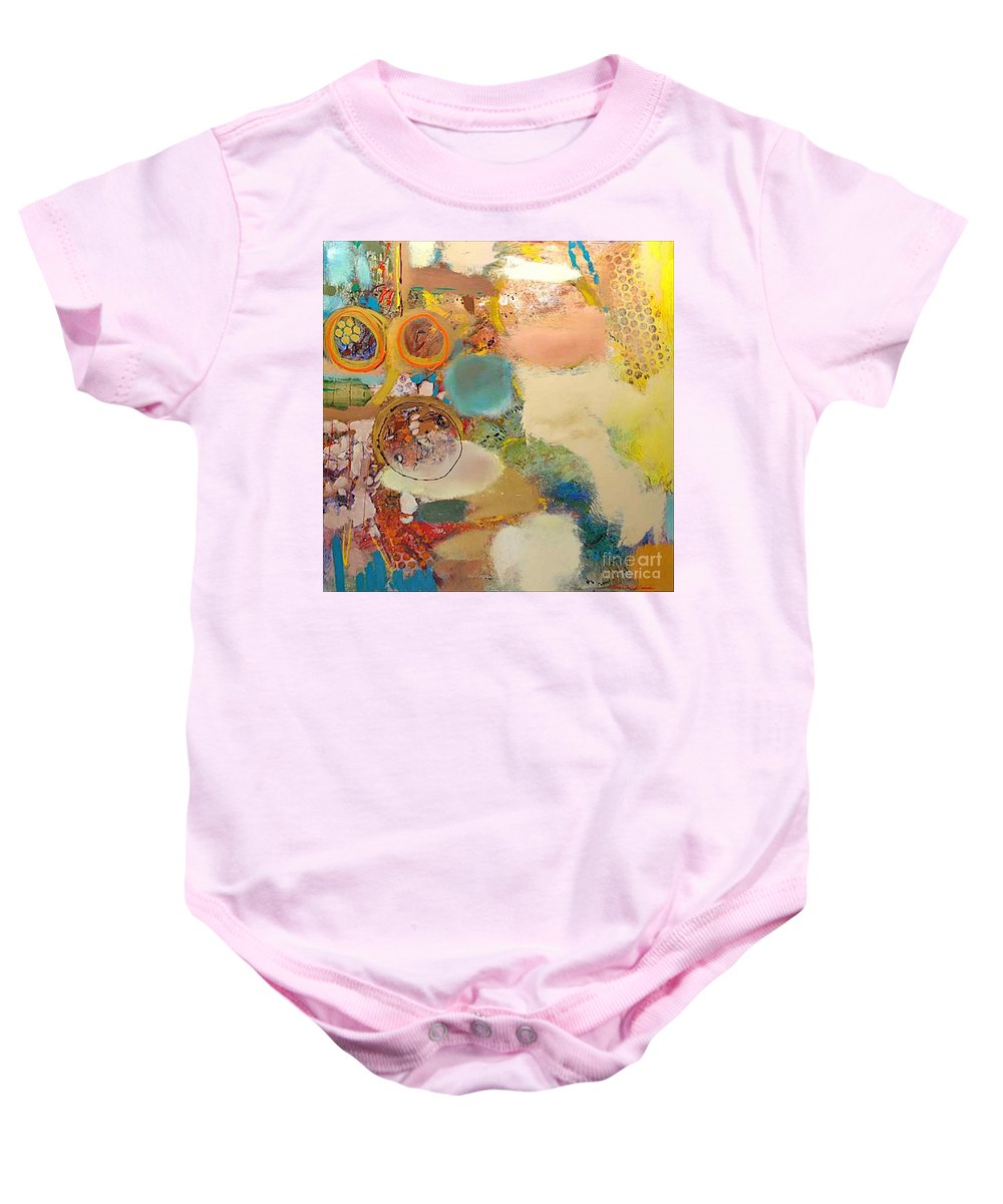 Landscape Baby Onesie featuring the painting Concertion for Horn in D by Allan P Friedlander