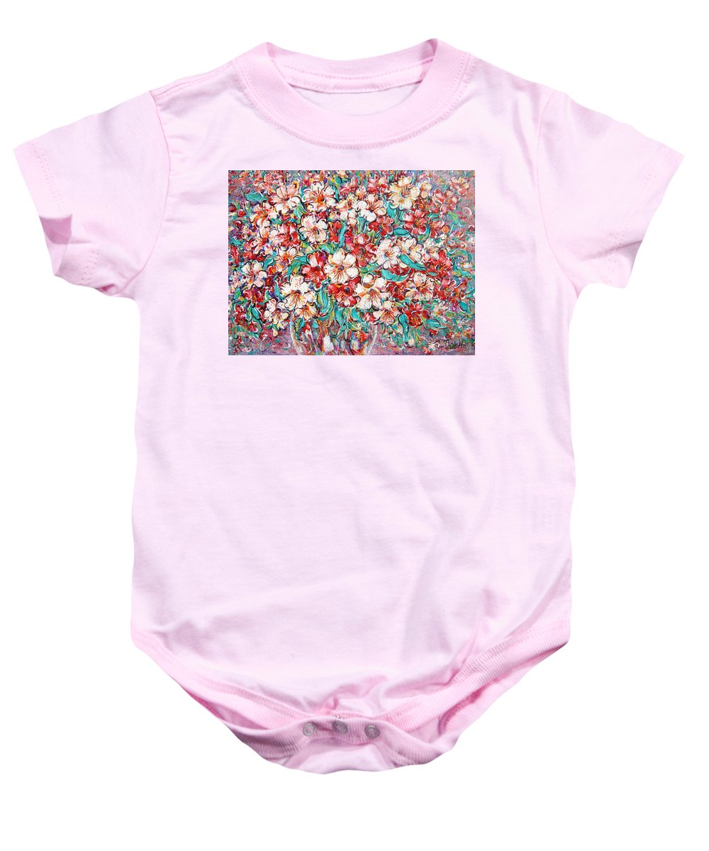 Flowers Baby Onesie featuring the painting Shakespeare Scents by Natalie Holland