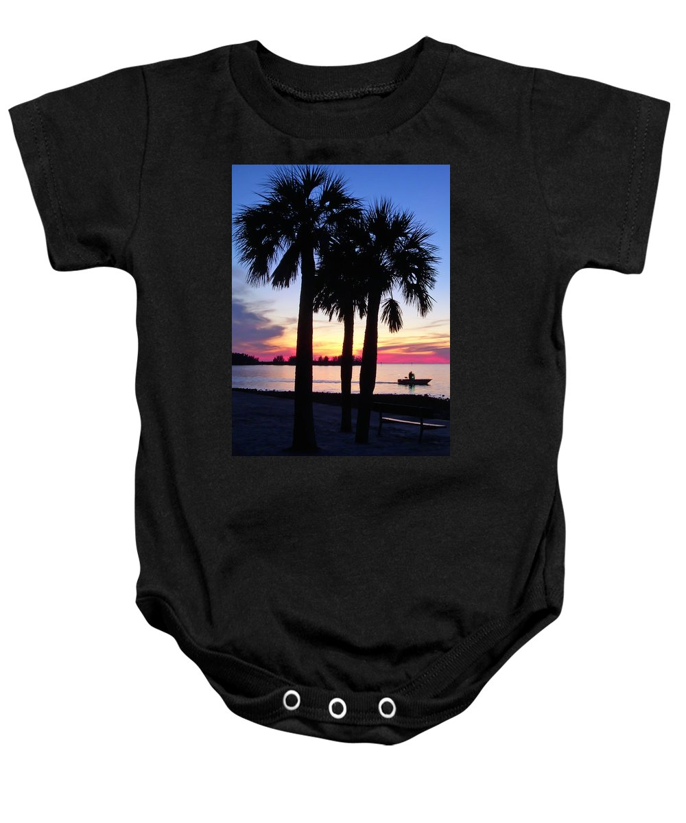 Sunset Baby Onesie featuring the photograph Beach Sunset by Aimee L Maher ALM GALLERY