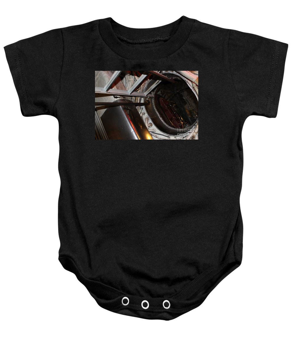Uss Lionfish Baby Onesie featuring the photograph Down The Hatch by Jennifer E Doll