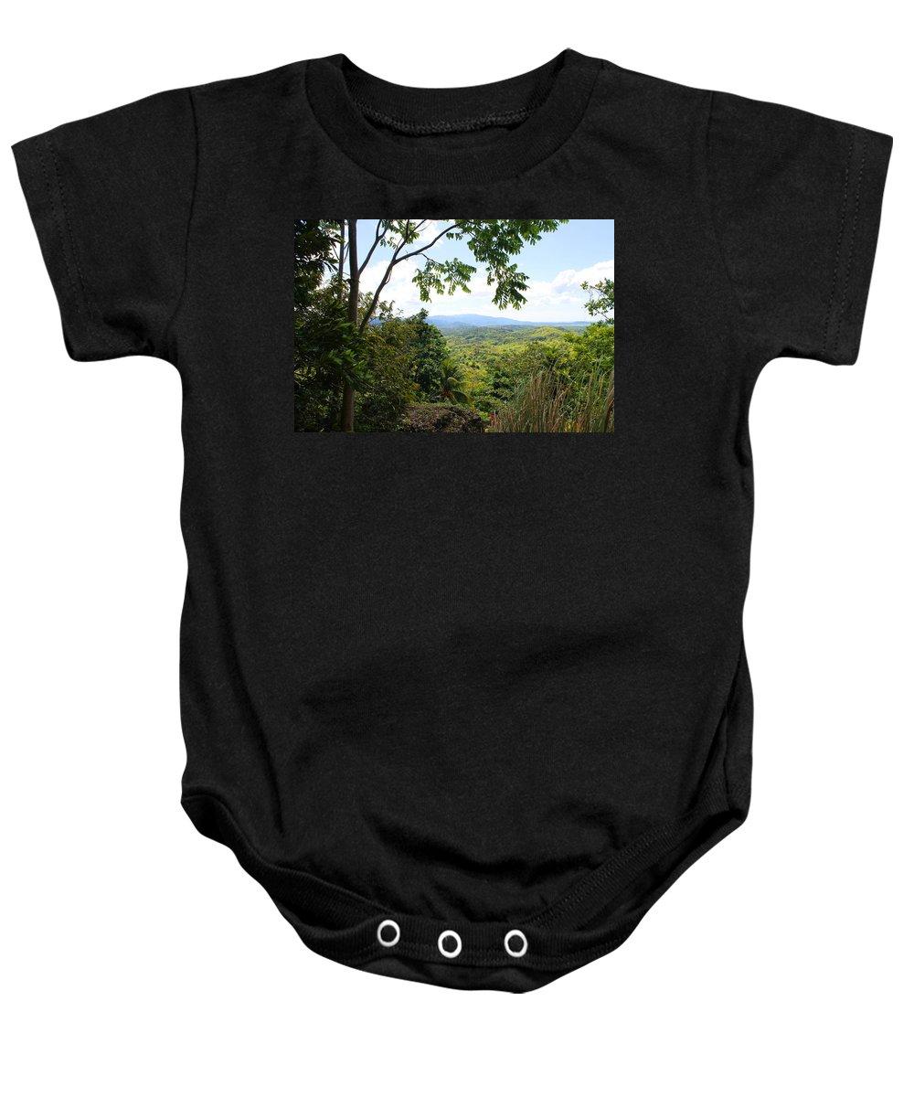 Jamaica Baby Onesie featuring the photograph Westmoreland Jamaica by Debbie Levene
