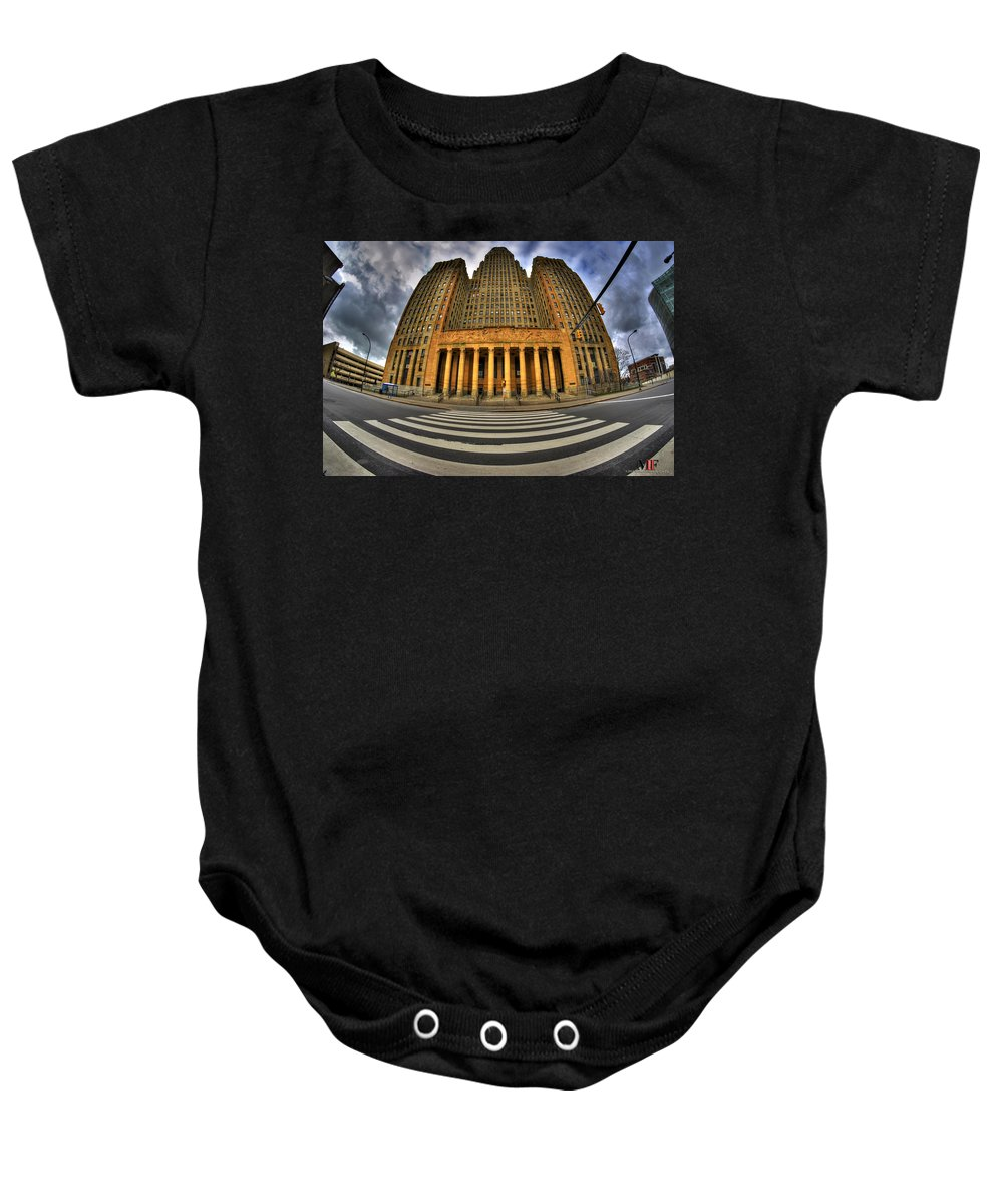 Michael Frank Jr Baby Onesie featuring the photograph 0021 Approaching Our City Hall by Michael Frank Jr