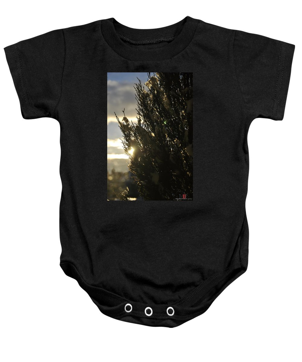 Michael Frank Jr Baby Onesie featuring the photograph 005 Peaking Winter Sunrise by Michael Frank Jr