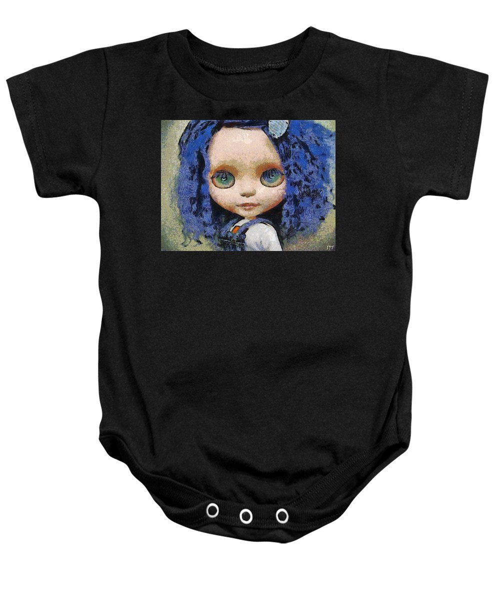 Still Life Baby Onesie featuring the painting 0140 by I J T Son Of Jesus