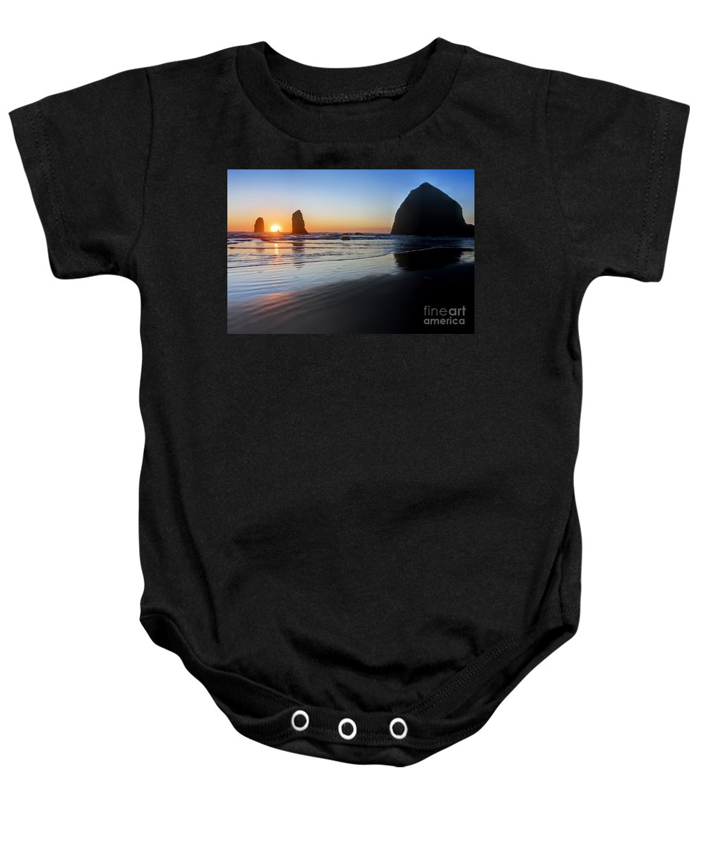 Beach Baby Onesie featuring the photograph 0519 Cannon Beach Sunset 3 by Steve Sturgill