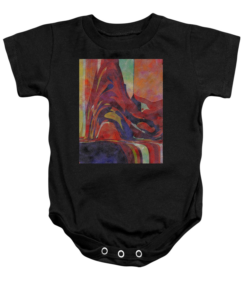 Abstract Baby Onesie featuring the digital art 0910 Abstract Thought by Chowdary V Arikatla