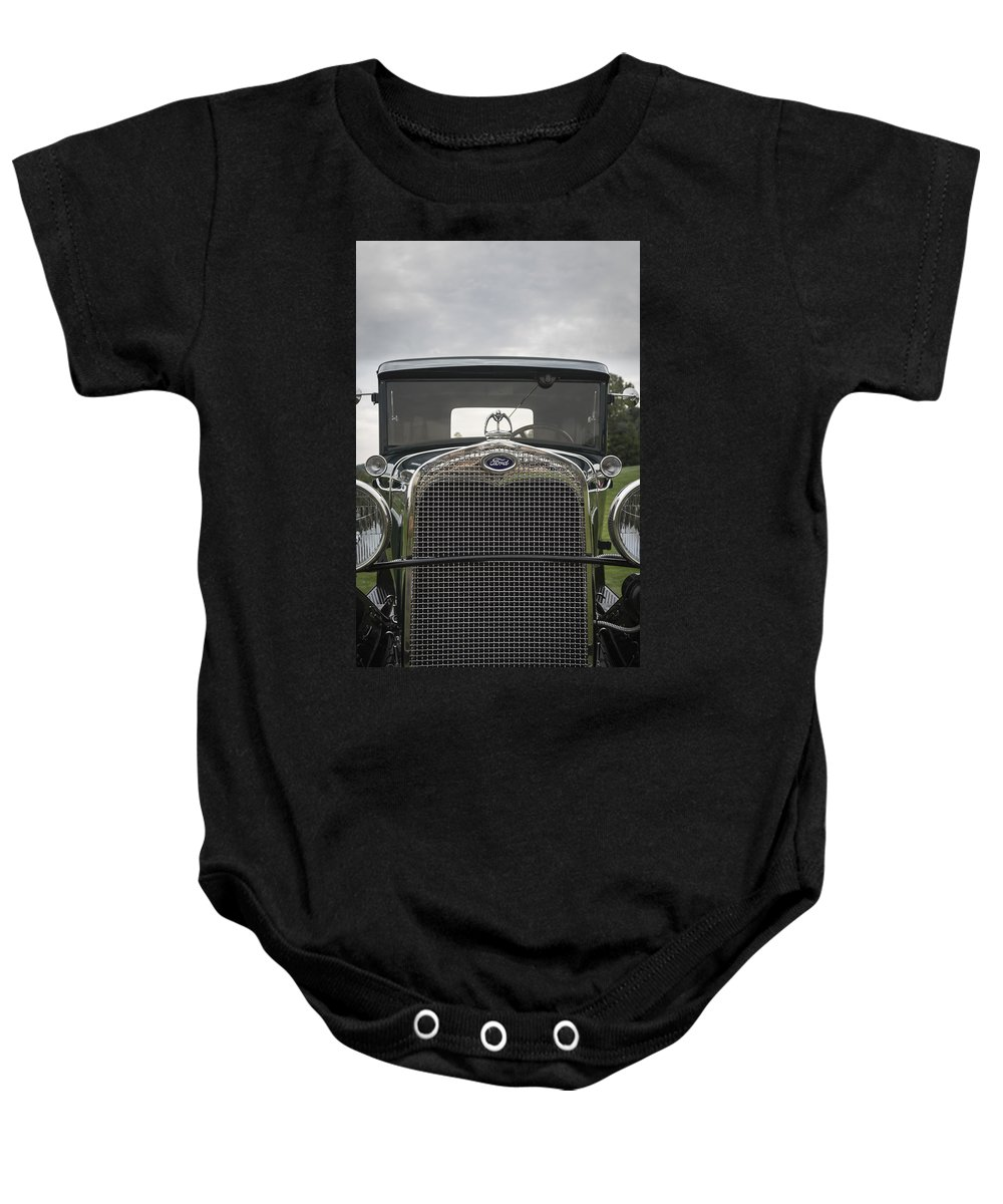 Antique Baby Onesie featuring the photograph 1930 Ford Model A by Jack R Perry