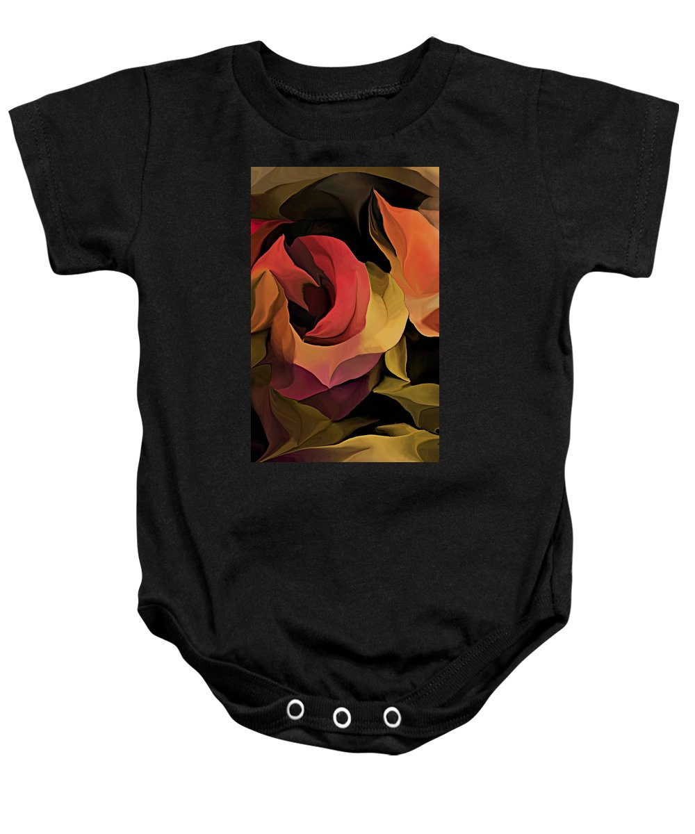 Abstract Baby Onesie featuring the digital art Abstract 071713 by David Lane