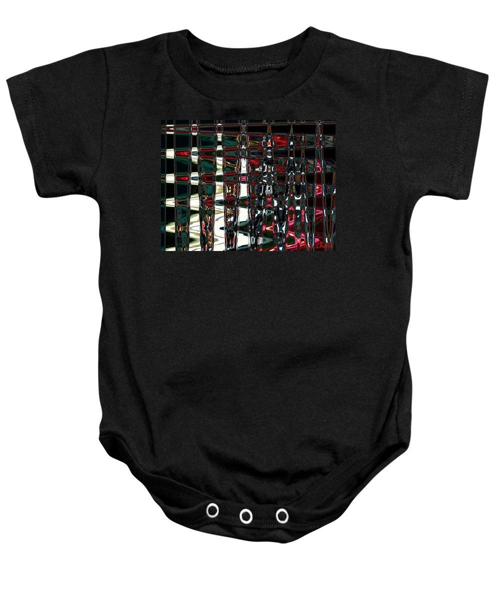 Baby Onesie featuring the digital art Abstract II by Michelle Deschenes