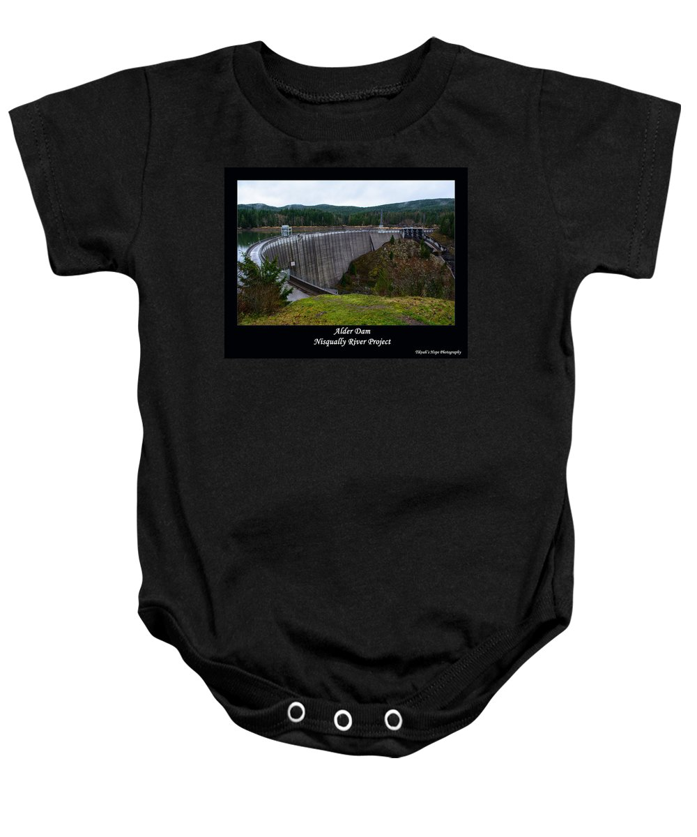 Alder Dam Baby Onesie featuring the photograph Alder Dam by Tikvah's Hope