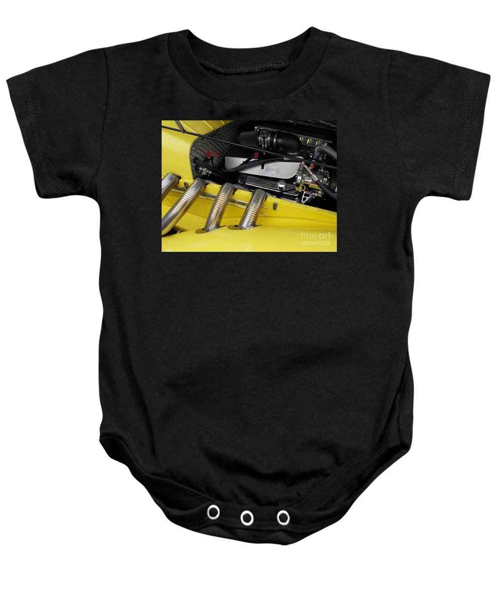 Car Baby Onesie featuring the photograph Auburn Roadster by Skip Willits