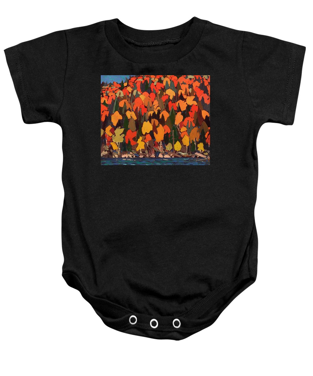 Painting Baby Onesie featuring the painting Autumn Foliage by Mountain Dreams