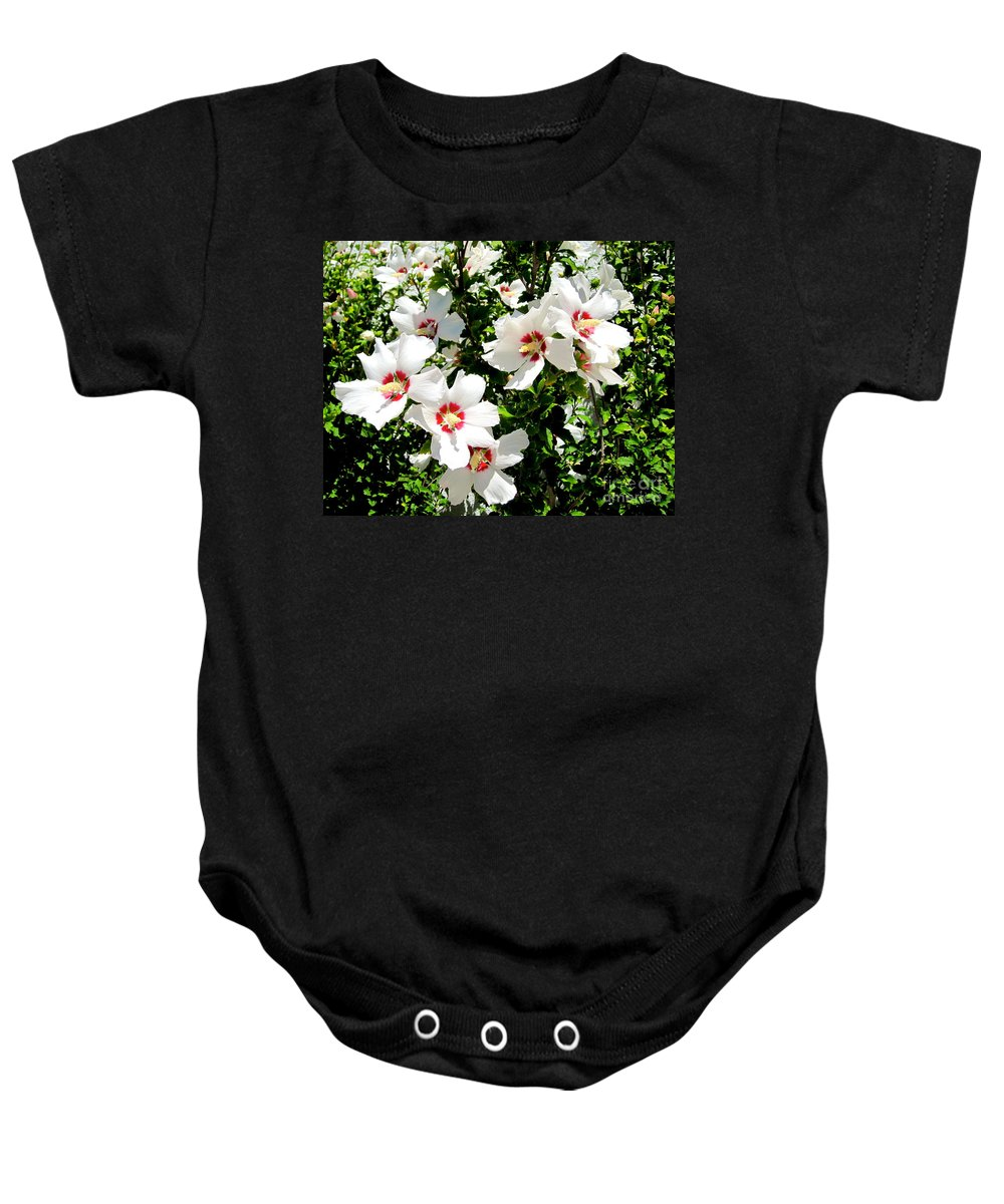 Hibiscus Baby Onesie featuring the photograph Beautiful Hibiscus by Phyllis Kaltenbach