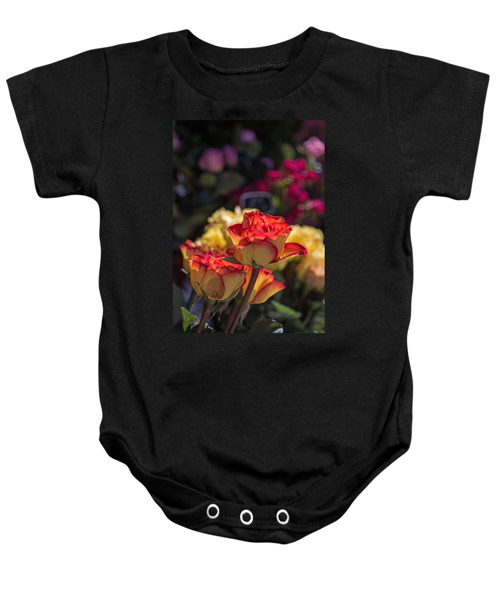 Roses Baby Onesie featuring the photograph Buy Me A Rose by Deb Buchanan