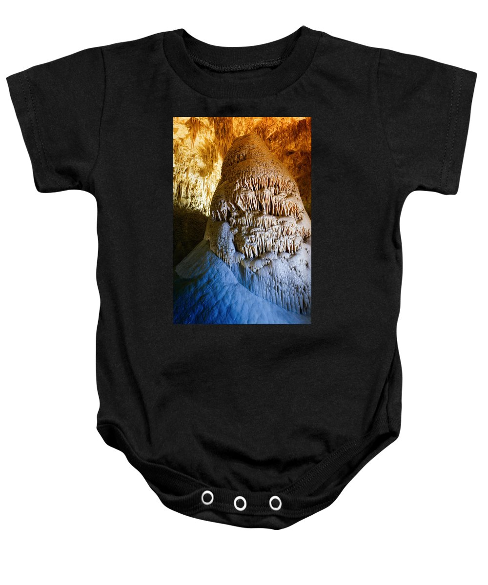 Carlsbad Baby Onesie featuring the photograph Carlsbad Cavern by Alexey Stiop