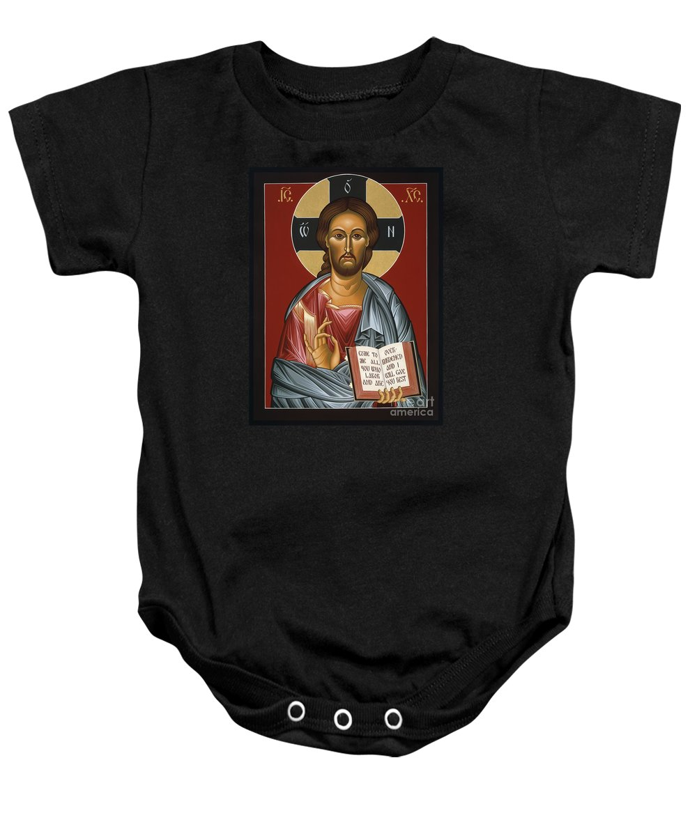 Christ All Merciful Baby Onesie featuring the painting Christ All Merciful 022 by William Hart McNichols
