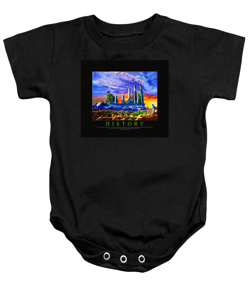 Baby Onesie featuring the painting Corporate Art 006 by Catf