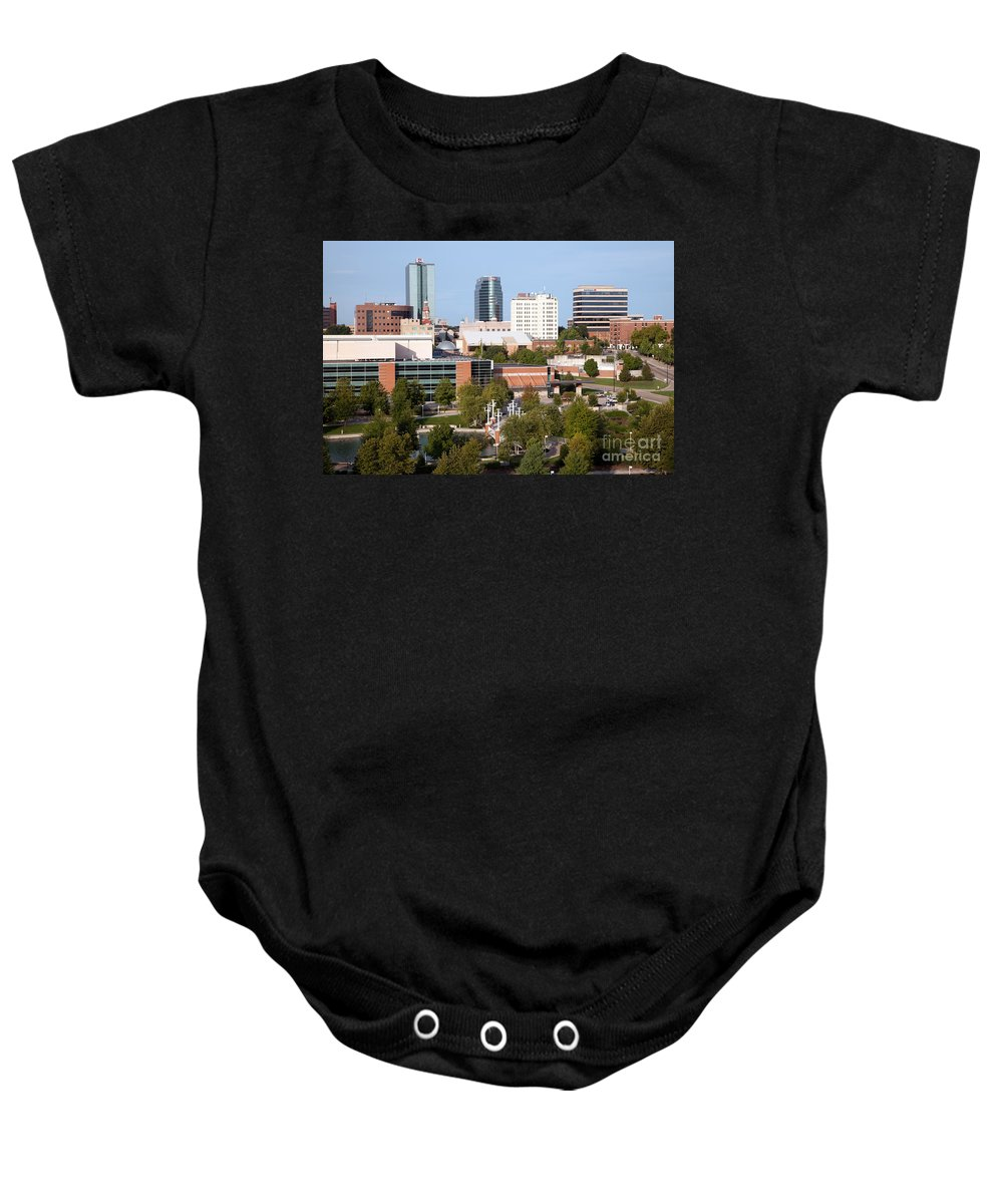 Bank Of America Baby Onesie featuring the photograph Downtown Knoxville Tennessee Skyline by Bill Cobb