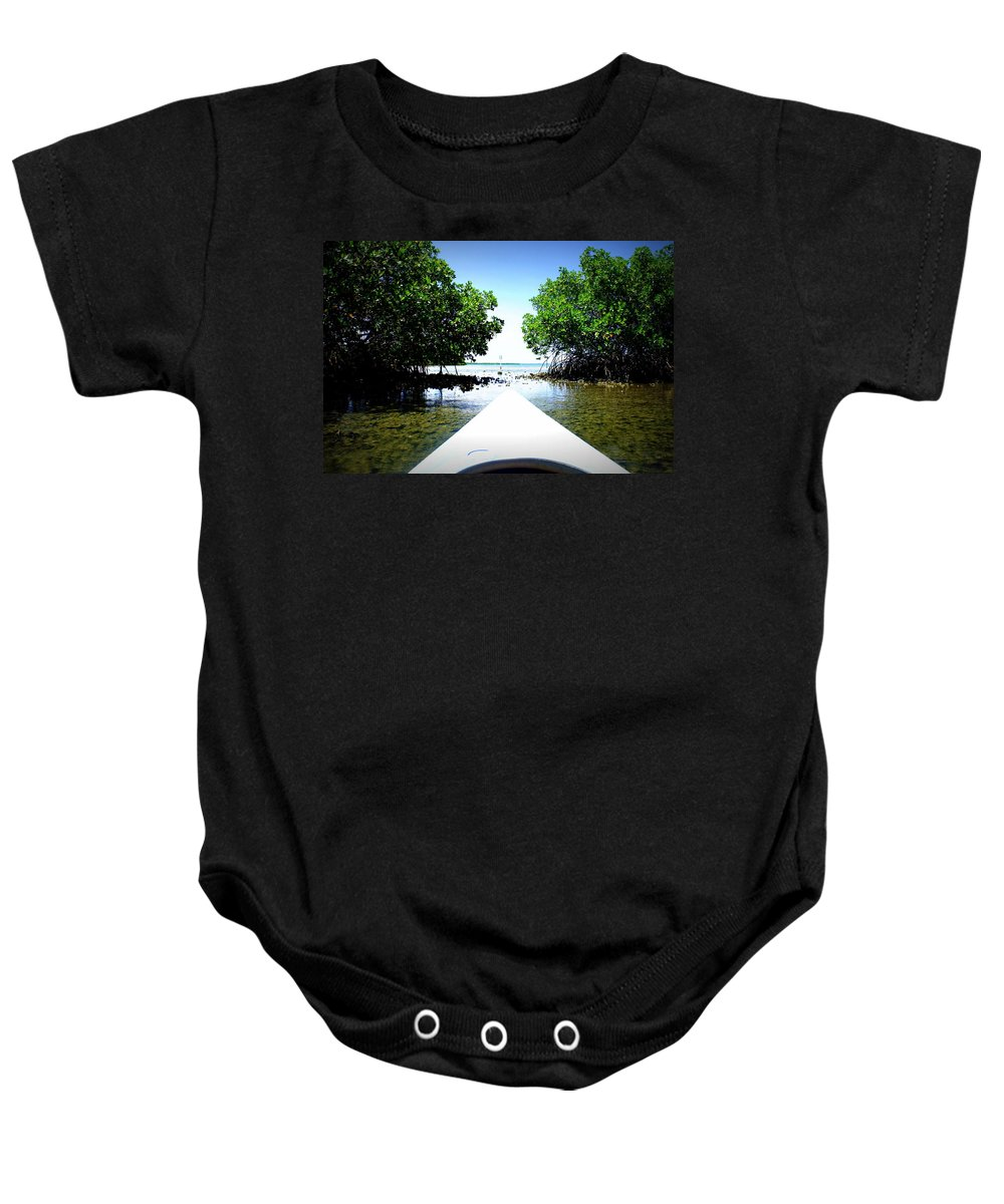 Fort Desota State Park Baby Onesie featuring the photograph Escape by Laurie Perry