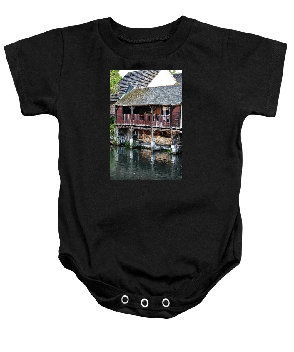 Chartres Baby Onesie featuring the photograph Eure River And Old Fulling Mills In Chartres by RicardMN Photography