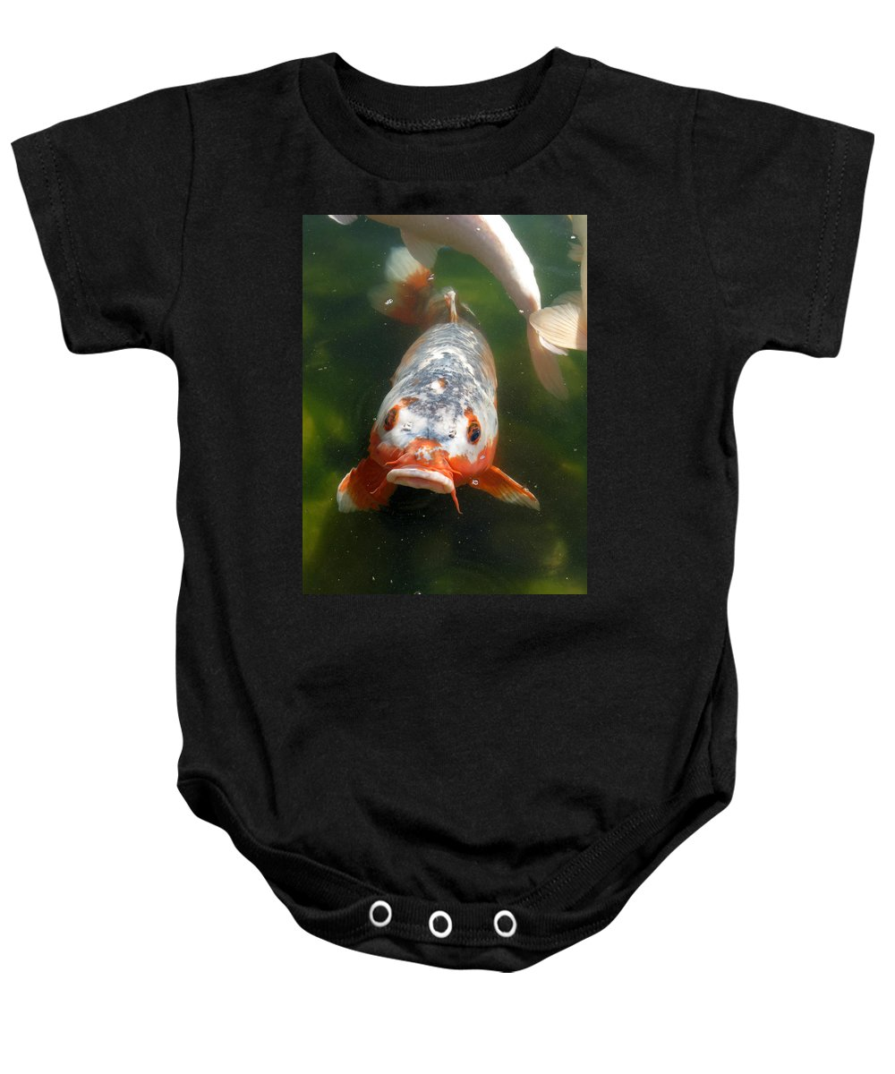 Fish Baby Onesie featuring the photograph Feed Me by Laurel Powell
