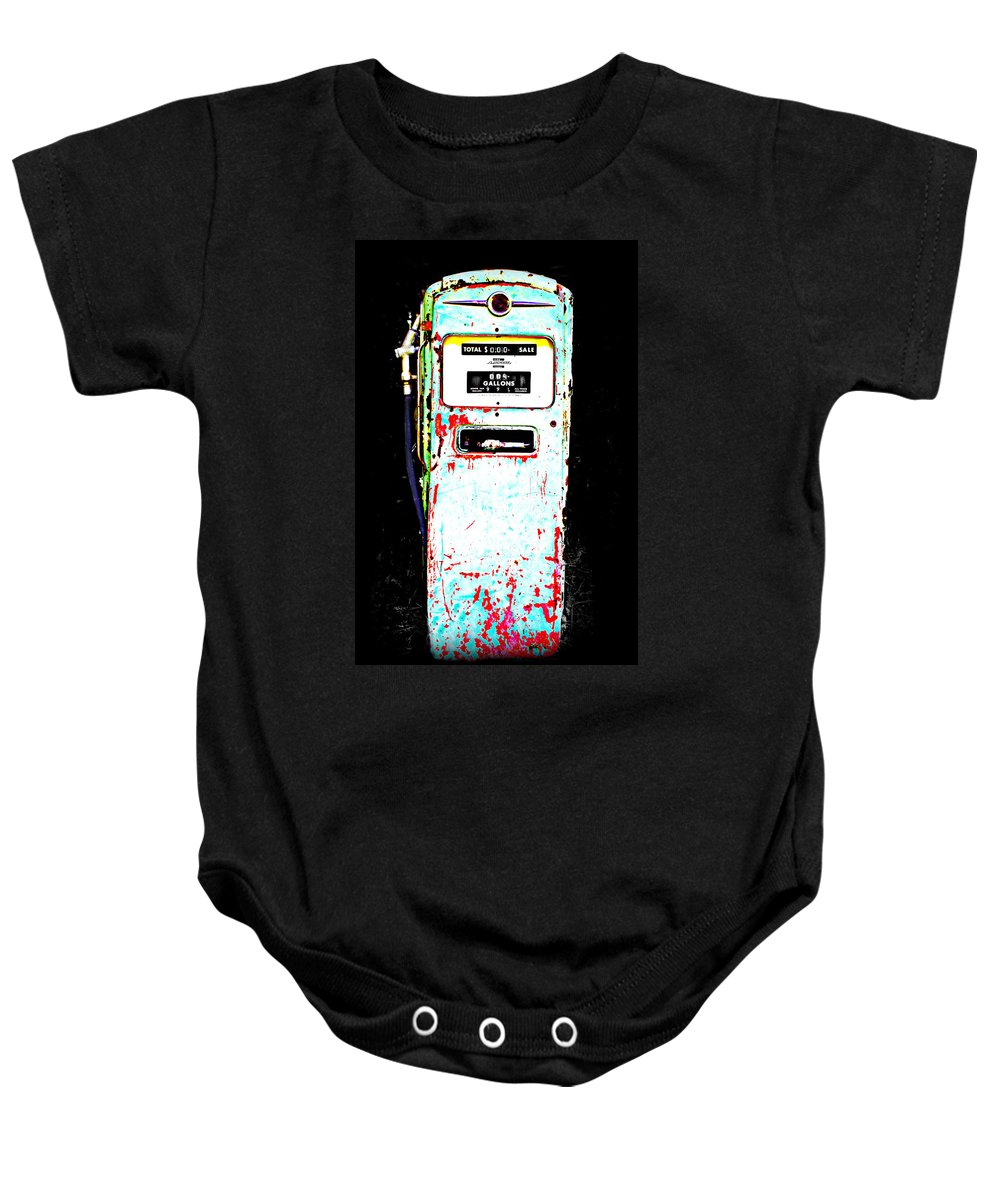 Gas Baby Onesie featuring the photograph Fill'r Up by Tina Meador