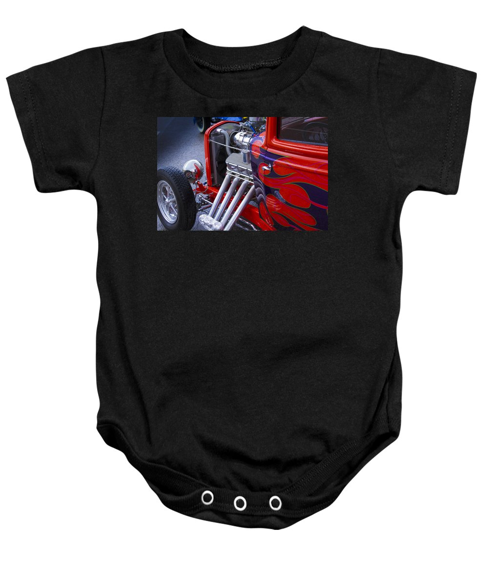 American Baby Onesie featuring the photograph Flame by Jack R Perry