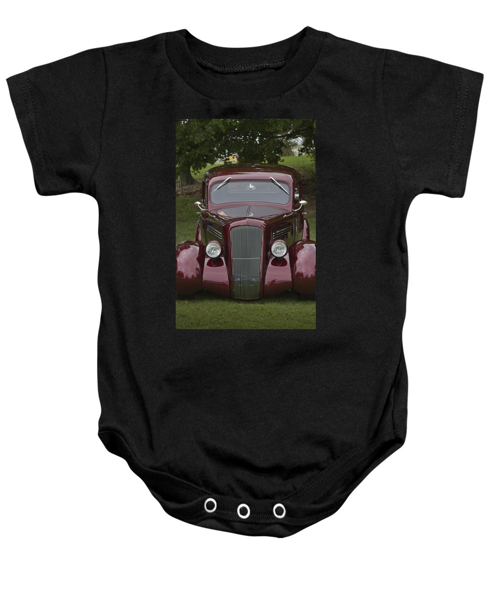 American Baby Onesie featuring the photograph Grass Hopper by Jack R Perry